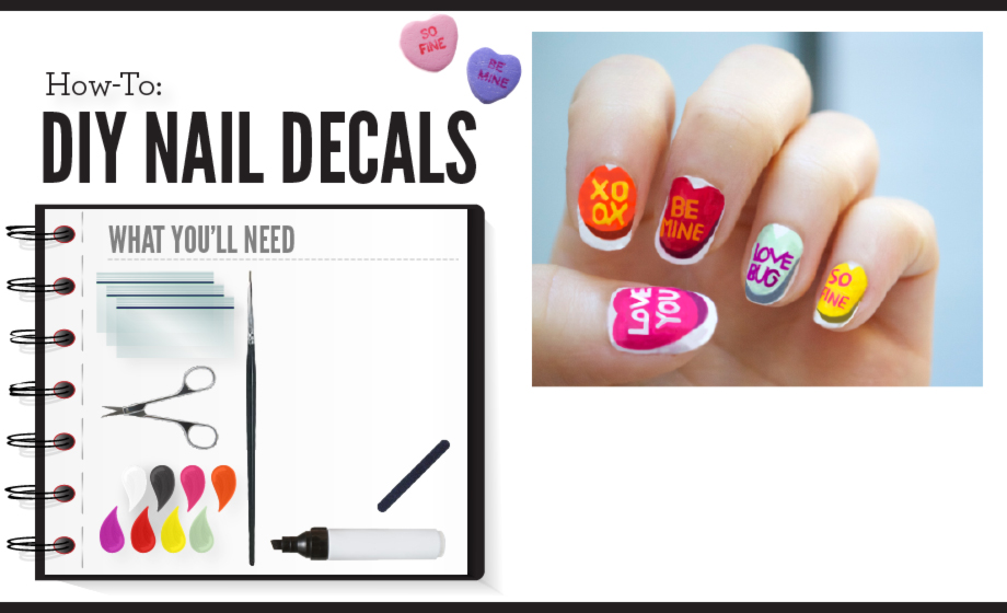 DIY Valentine\'s Day Nail Decals | Beautylish